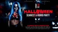 Halloween Party Flyer Facebook-covervideo (16:9) template