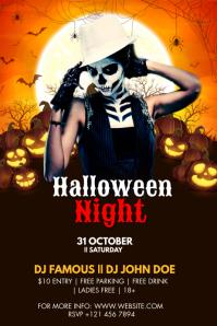 Halloween Party Flyer แบนเนอร์ 4' × 6' template