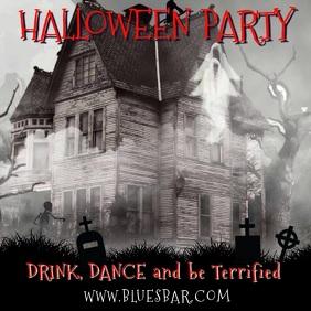 Halloween Party Video Template Сообщение Instagram