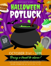 Halloween Potluck Flyer (US Letter) template