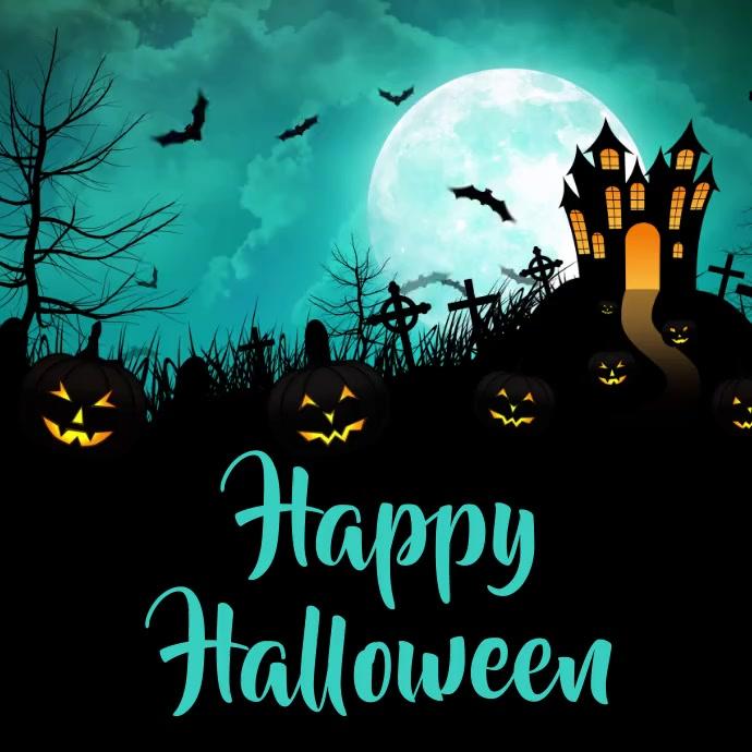 halloween template Instagram-opslag