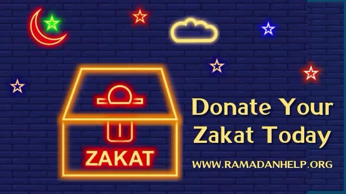 Zakat al Fitr Donation Video Template 数字显示屏 (16:9)