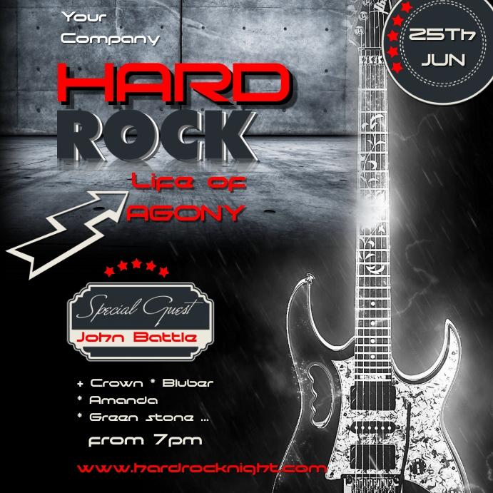 hard rock1 Квадрат (1 : 1) template