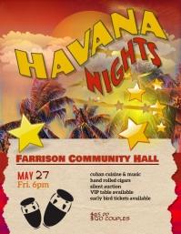 Copy of Havana Nights Event Flyer Template