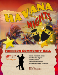 Copy of Havana Nights Event Flyer Template