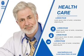 HEALTH CARE VIDEO AD Poster template