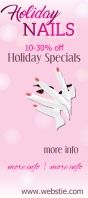 Holiday Nails Rack Card template