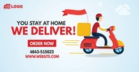 Home Delivery Service Ad Facebook 共享图片 template