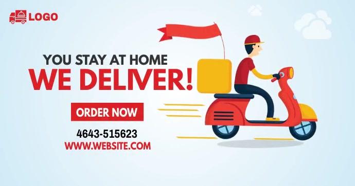 Home Delivery Service Ad Imagen Compartida en Facebook template