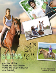 Copy of horse lessons l Flyer Template
