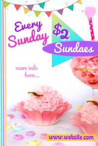 Ice Cream Ad Poster template