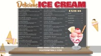 Ice Cream Digital Menu Template