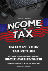 income tax refund Poster Template