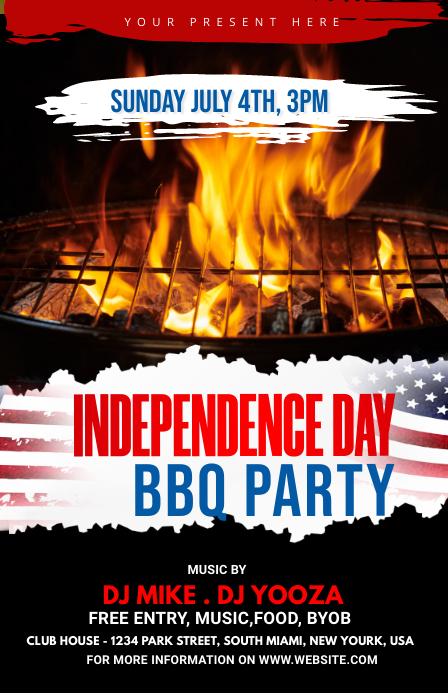 Independence Day BBQ Party 半版 template
