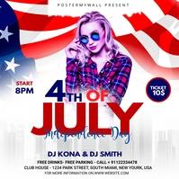 Independence Day Celebration ads Publicação no Instagram template