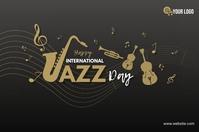 International Jazz Day Banner 4 x 6 fod template