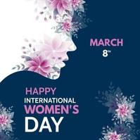 international women's Day Instagram-opslag template