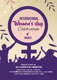 international women's Day Poster 2021 A4 template