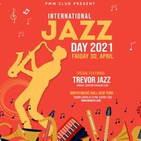Jazz Festival Flyer Instagram Post template