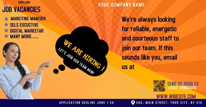 job ad Рекламное объявление Facebook template