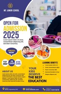 Junior School admission Flyer Templat 半版 template