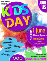 kids day3 Pamflet (Letter AS) template