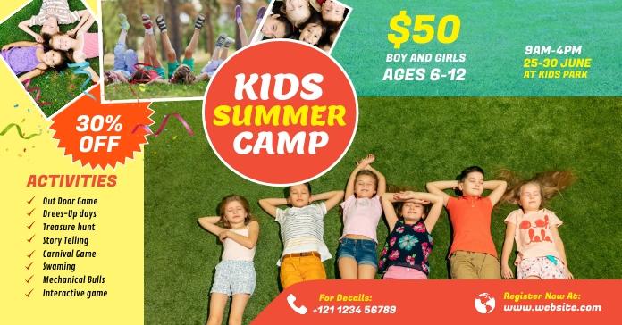 Kids Summer Camp Facebook ad template