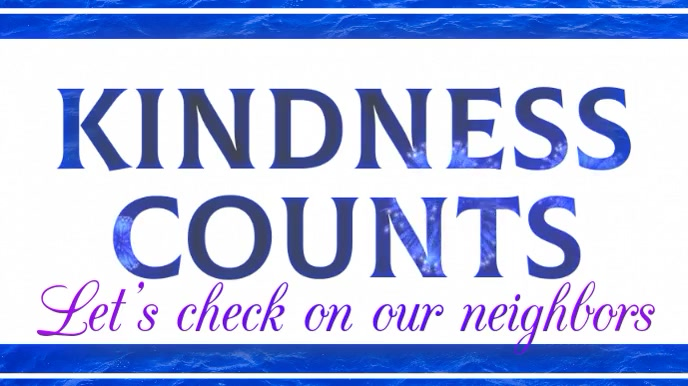 Kindness Counts Digital Display template