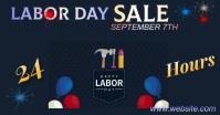 Labor Day Sale delt Facebook-billede template