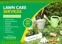 Lawn and Landscaping Briefkaart template