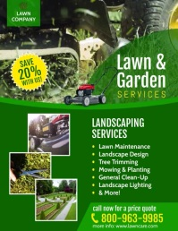 LAWN CARE Pamflet (Letter AS) template