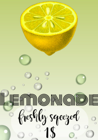 lemonade flyers A4 template