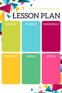 Lesson Plan Poster template