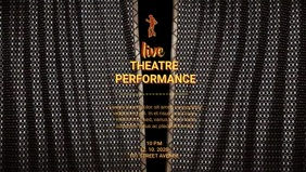 LIVE THEATER PERFORMANCE AD Facebook 封面视频 (16:9) template