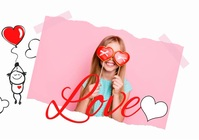 Love Valentine's Day Photo Video A4 template