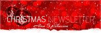 mail header christmas newsletter En-tête d'e-mail template