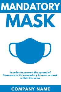 mandatory mask poster design template
