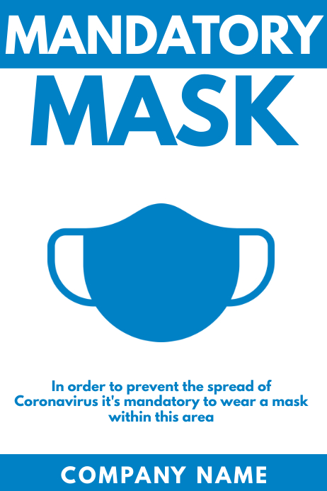 mandatory mask poster design template Póster
