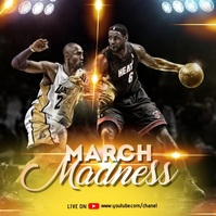 March Madness - Basketball Template Wpis na Instagrama