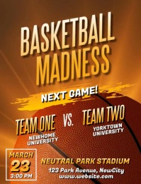 Copy of March Madness Basketball Video Flyer