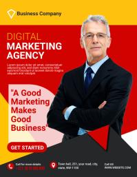 Marketing Social Media Flyer Template Рекламная листовка (US Letter)