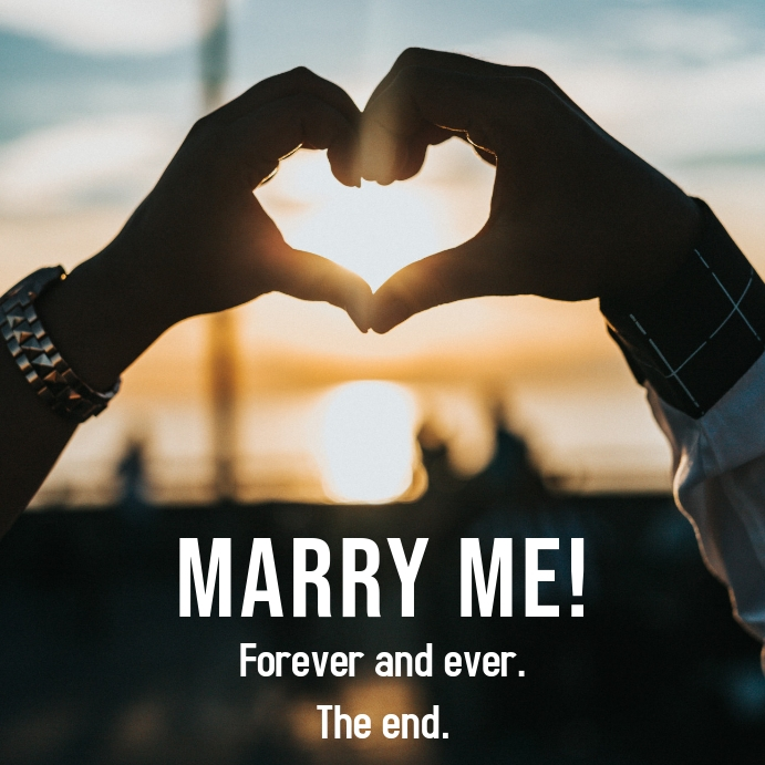 Marriage Proposal Instagram Template