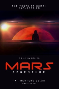 Mars Movie Poster template