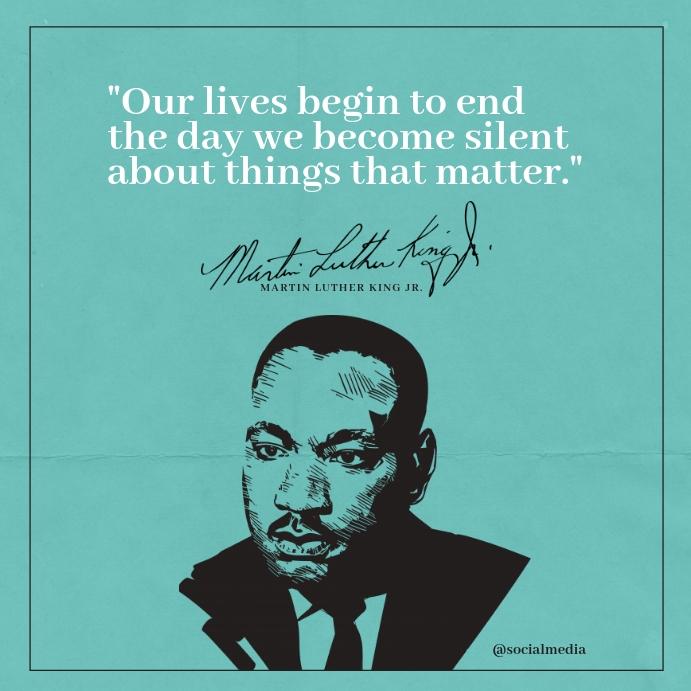 Martin Luther King Jr Quote Template Publicación de Instagram