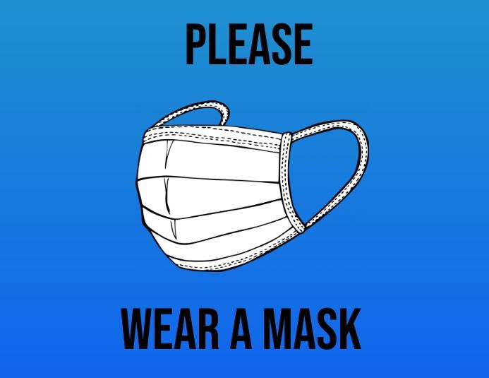 Mask Løbeseddel (US Letter) template