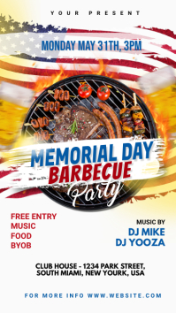Memorial Day BBQ Party Instagram Story template