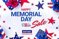 Memorial Day discount ads Spanduk 4' × 6' template