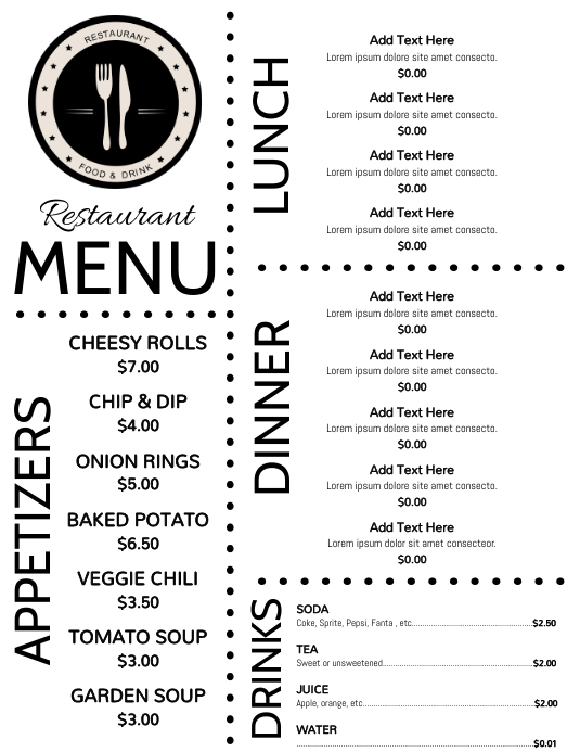 Copy of Menu