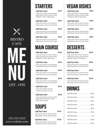 MENU Flyer (format US Letter) template