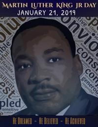 MLK Day Poster Template 传单(美国信函)